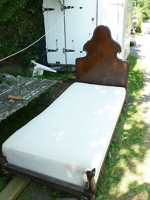 Antique SINGLE 3ft Bed Mahogany with Integral matress
