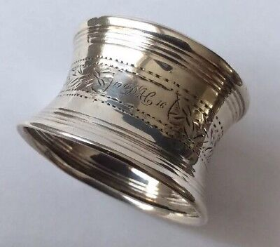 Antique Hallmarked Chester 1911 Solid Silver Napkin Ring By S B & S Ltd.