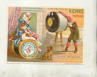 Kerr's Thread Advertising Cover- - -Using Roll Of Thread As A Camera