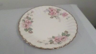 "6 Vintage Limoges  22K Gold China Rose 10"" Dinner Plates"