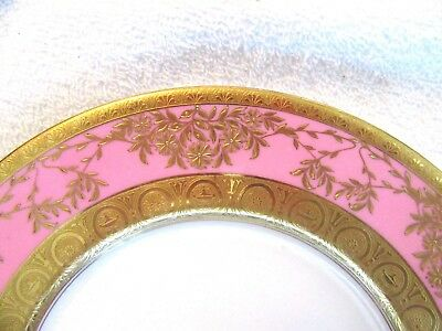 Minton Dinner Plate Pink & Gold 9""