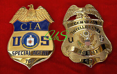 gß/ Historisches badge + CIA Special Agent or old CIA Central Intelligence Agent