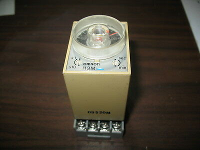Omron H3M Series B On Delay Timing Relay with Base (120V)