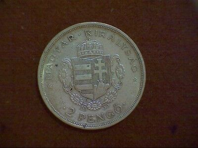 HUNGARY 1935 2 pengo  Silver Ag SEE super coin Same S/H for ANY q coins
