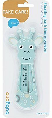 New Baby Safe Floating Bath Thermometer - Giraffe By Babyono