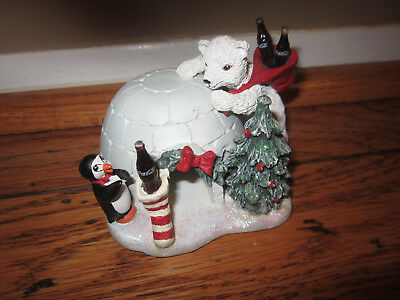 Coke Coca-Cola Polar Bear Cubs 72010 The Bear Cub Club Igloo Christmas 1995