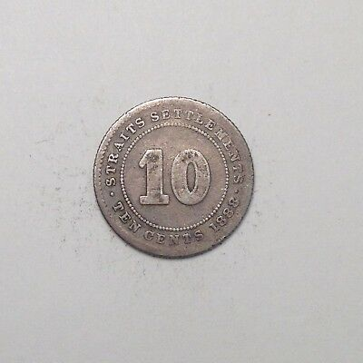1888 10 Cents Victoria Straits Settlements - Nice. Take A Look!! [Fc71]