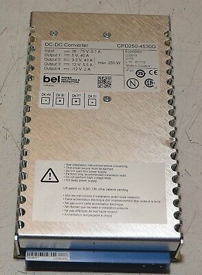 BEL CPD250-4530G 3.3 VDC 40 Amps Diode Laser Power Supply