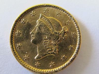 1849-1854 Liberty Gold Dollar Used In Jewelry Cannot Read Date