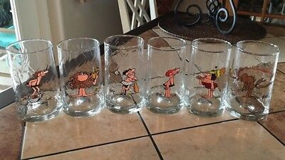 Arby's BC Comic Glasses 1981, Johnny Hart, Lot Of 6  Entire Set