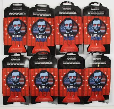 Party LIke a Patriot Koozie Coozie  Coolie Can Hugger 12oz CANS Lot of 8