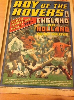 ROY OF THE ROVERS Comic-1976 23/10/76 Liverpool V Southampton Poster Issue No 5