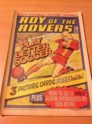 ROY OF THE ROVERS Comic-1976 16/10/76 Phil Boersma England V Brazil Poster Into