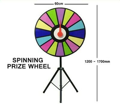 Prize Wheel 60cm Editable Dry Erase Color Fortune Spinning Game Floor Stand NEW