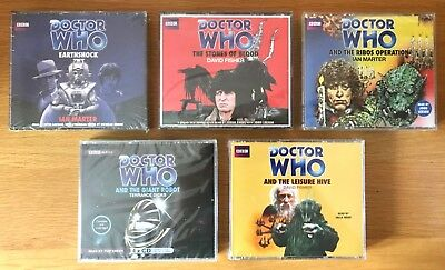 New Sealed 6 Doctor Who Audio Cd Sets 4Th+5Th Drs Ribos Operation + Earthshock +