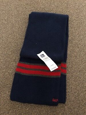 Bnwt Boys Gap Navy Red Knitted Scarf Rrp £16.50