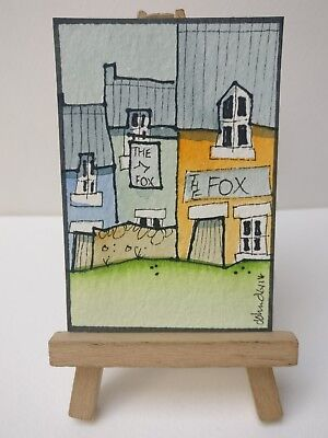 Original Watercolour Painting ACEO - The Fox