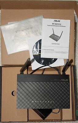 ASUS RT-AC51U AC750 Dualband WLAN Router ac/n/a/g/b 4-Port-Switch USB