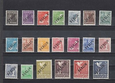 a101 - GERMANY - 1948 MLH PICTORIAL ISSUE OVPT BERLIN IN BLACK 2pf - 5m 20v