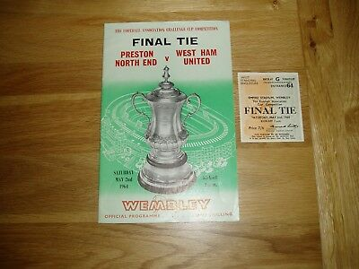 1964 FA Cup Final (+ TICKET) Preston North End v West Ham United