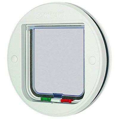 PetMate Cat Mate 4-way locking cat flap, glass fitting, white
