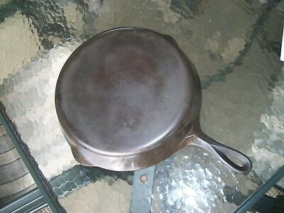 Vtg GRISWOLD Small Block Logo No. 10 ERIE PA. #716A CAST IRON SKILLET FRYING PAN