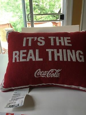 Coca Cola Pillow With 2 Different Sides. 2 pillows are available.