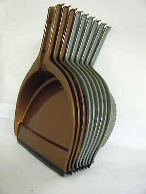 Job Lot 9 Lightweight Dustpans 3 x Brown & 6 x Grey