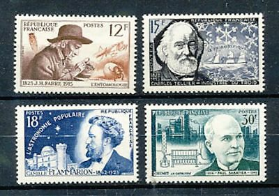 Timbre Stamp Zegel France Grands Inventeurs  1055-1058  Xx