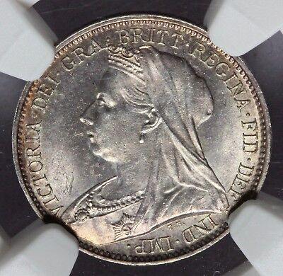 1894 Great Britain Maundy Silver 4 Four Pence Coin - NGC MS 66 - KM# 778