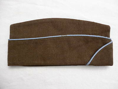 WW2 US Army garrison hat with blue piping, original