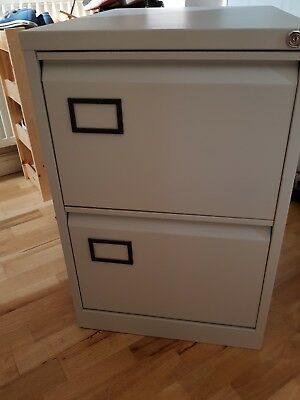 Preowned Excellent Condition 2 Draw Lockable Filing Cabinet