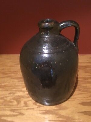 Antique Primitive Southern Pottery Stonewear Whiskey Jug 1 Gallon