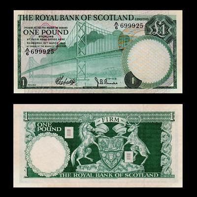 1969 Scotland Royal Bank , £1 - » Cv $70 «