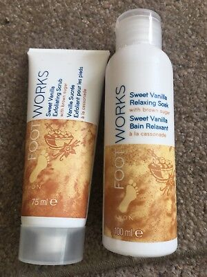 Brand new never used Avon Footworks Sweet Vanilla Scrub And Soak
