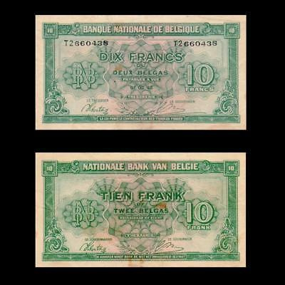 1943 Belgium (In Exile), 10 Francs - » Best Note «