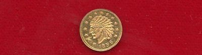 California Gold Fractional 1856 Round 1/2 Dollar Size Indianhead 13 Stars
