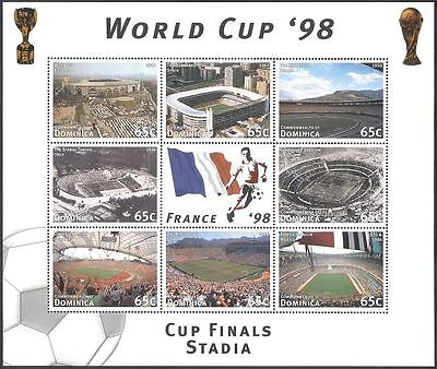 Dominica 1997 Football/Stadia/Stadiums/World Cup/Buildings/Sports 8v sht n41349