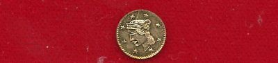 California Gold Fractional 1851 Round 1/4 Dollar Size Liberty Head 8 Stars