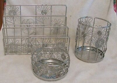 Neat Life Petal Collection Silver Wire Desk Accessories