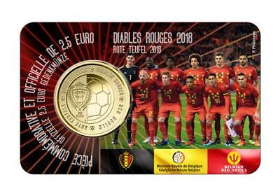 Belgien 2,5 Euro The Red Devils - Fussball WM - Blister 2018 Wallonische Version