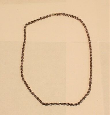 """14k Yellow Gold 16"""" Rope Chain for scrap or wear, 5.9 grams"""