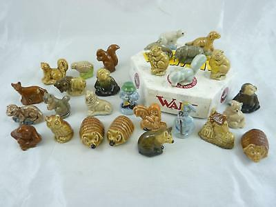 Job Lot / Bundle of 28 Wade Whimsies, some rare, includes a Wade box, Animals