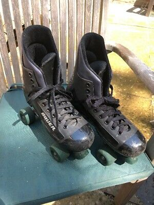Bauer Turbo Quad Roller Boots Size UK 7 - Used