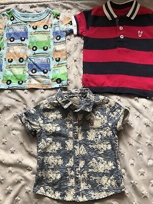 Next Boys Summer Tops/ T Shirts/ Shirt Bundle// Holidays, 6-9 Months