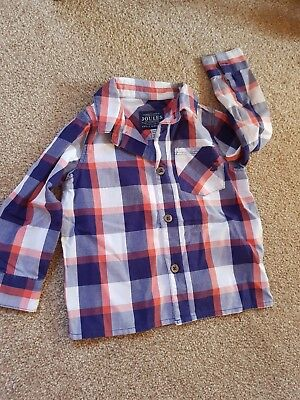 Boys Joules Shirt Checked Age 12 /18 Months
