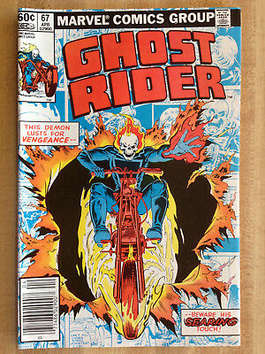 GHOST RIDER #67 VF 1982 Lone Ranger Western Town Ad Silver Tonto Scout L@@K WOW!