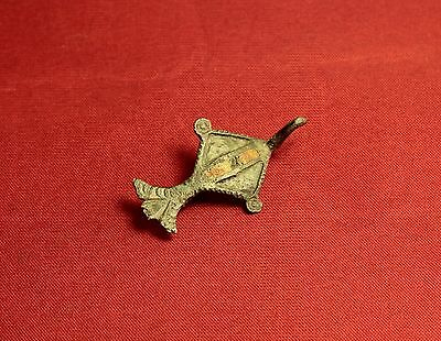 Ancient Roman Bird Enamelled Fibula or Brooch, 2. Century - Zoomorph!