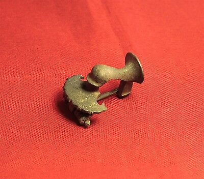 Fine Ancient Roman Trumpet Fibula or Brooch, 2. Century