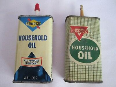 Gas Company Household Oil Tins, Conoco and Sunoco